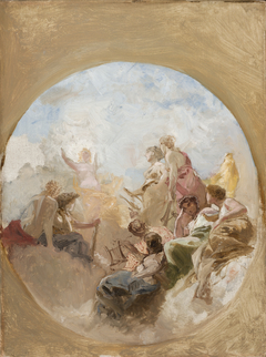 """Aurora"" (""Goddess of the Dawn"") – Sketch to a Plafon at the House of Jura Nieczajew-Malcew in Sanktt Petersburg"