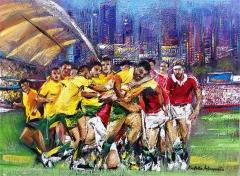 Australia v England rugby championship, at Hong Kong Stadium