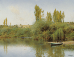 Bank of the Guadaira with Boat