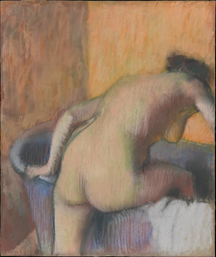 Bather Stepping into a Tub