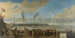 Battle of Livorno, 14 March 1653, an incident from the First Anglo-Dutch War