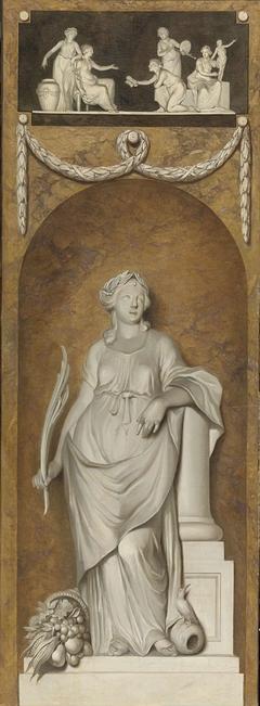 Behangselschildering met Ceres