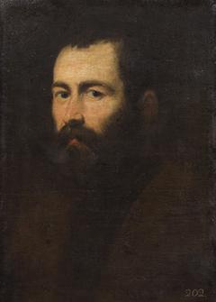Bildnis eines dunkelbärtigen, blauäugigen Mannes