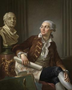 Bildnis eines Herrn mit der Büste des Denis Diderot