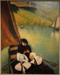 Breton Women in a Ferry Boat
