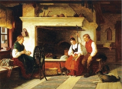 By the Hearth, an Ostrobothnian Courting Scene