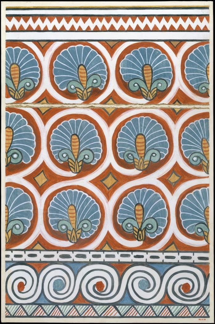 Ceiling Pattern, Tomb of Qenamun