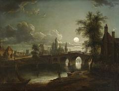 Chertsey Bridge by Moonlight