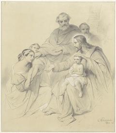 Christus zegent de kinderen