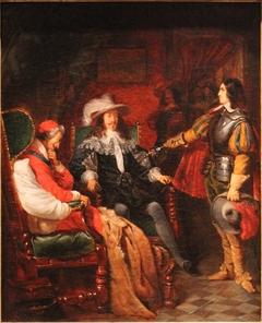 Cinq-Mars rendant son épée à Louis XIII by Claudius Jacquand