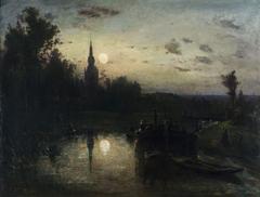 Clair de lune à Overschie (environs de Rotterdam)