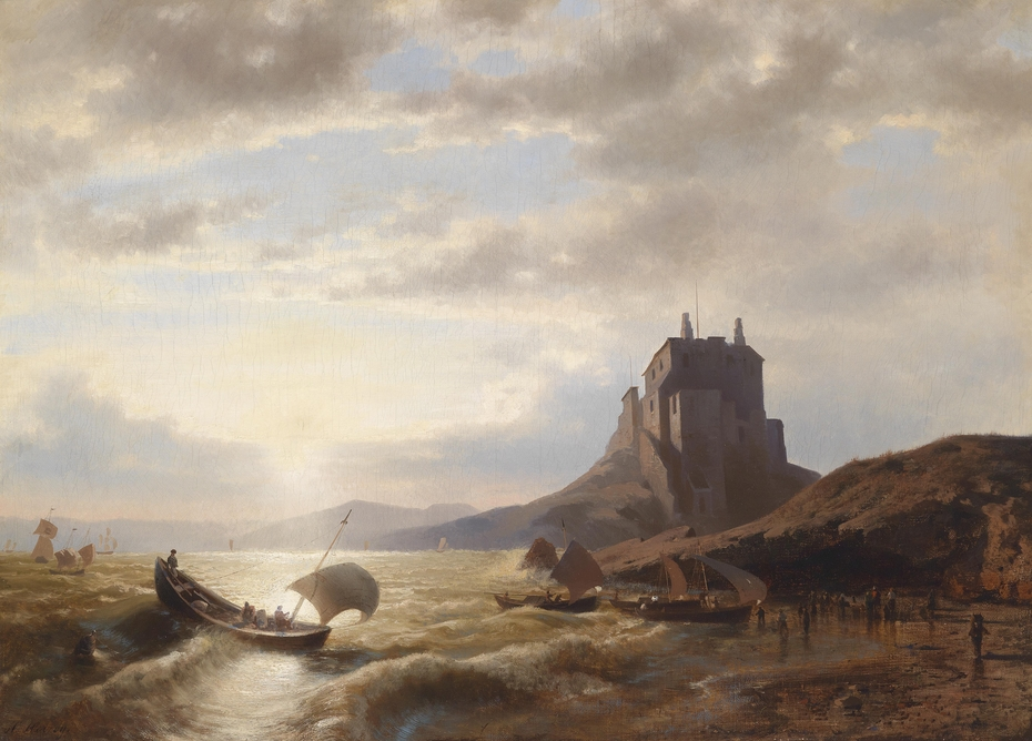 Coastal Landscape with Fishermen