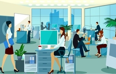 Corporate illustration design