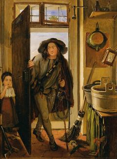 Der Drahtbinder in der Küche