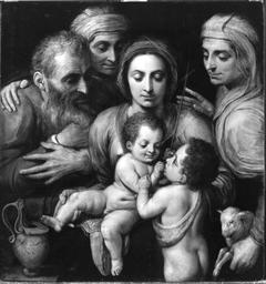 Die Heilige Familie mit Anna, Elisabeth und Johannes