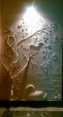 Dry wall Relief by Irum Kazmi
