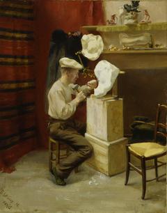Emil Wikström in His Studio in Paris