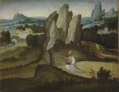 Felslandschaft mit dem büßendem Heiligen Hieronymus