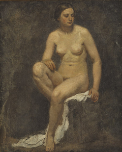 Female Nude in the Studio of Thomas Couture