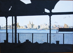 FERRY ' CROSS THE MERSEY, 2006 , oil on Linen, 140 x 100 cm