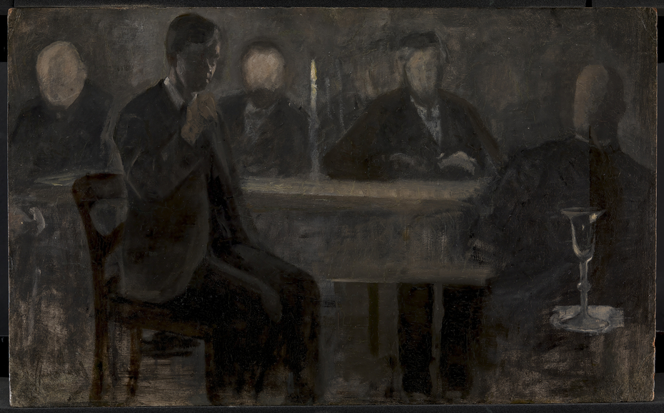 Five Portraits. Study for painting in Thielska Galleriet, Stockholm