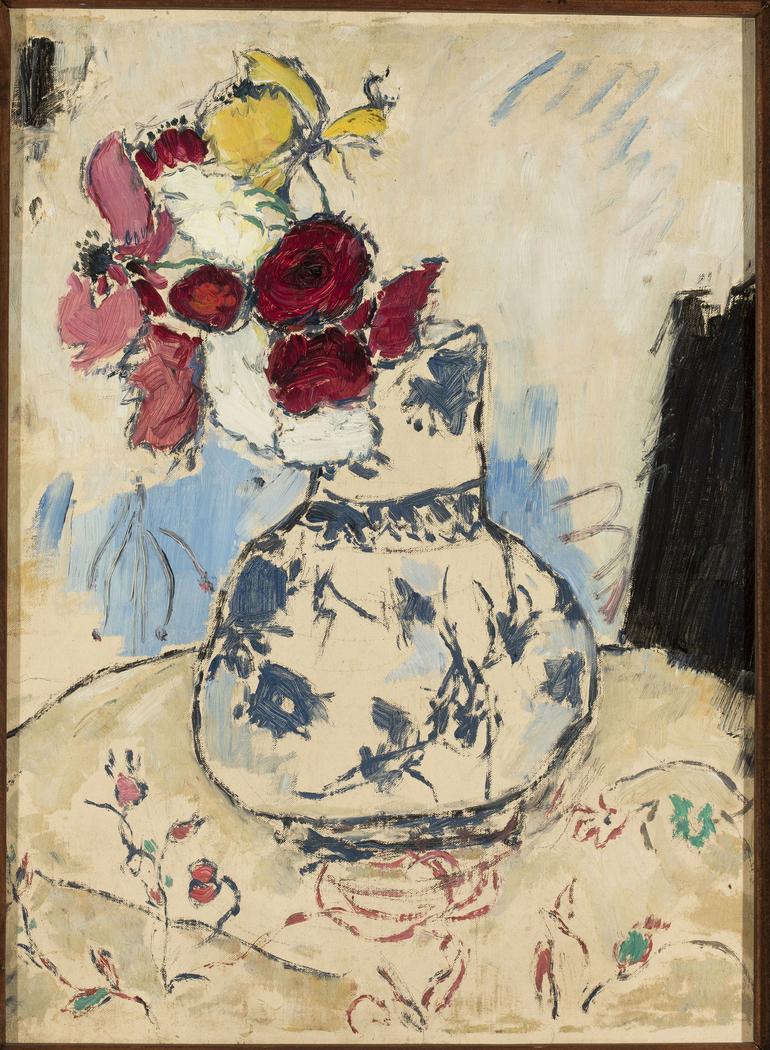 Flowers in a flower-vase