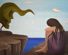 Flying away   Acrylic on canvas