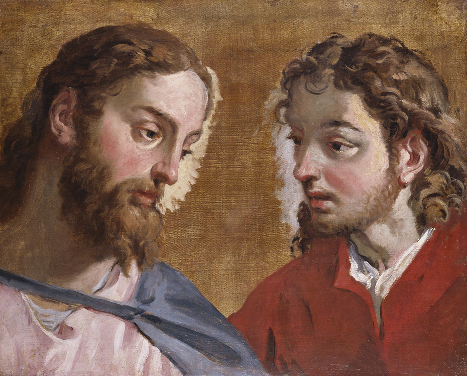 Head of Christ and an Apostle (St John)
