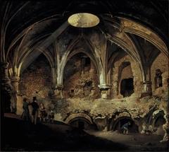 Het zuidwestelijk bolwerk van Kasteel Vredenburg te Utrecht