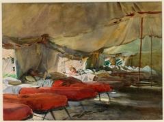 Interior of a Hospital Tent