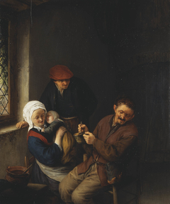 Interior of a Peasant's Cottage with a Child about to be Fed