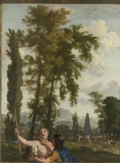 Italian Landscape with Shepherd and Shepherdess