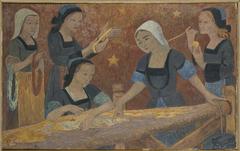 La tapisserie (les cinq tisseuses)