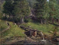 Landscape Study with a Water Pipe
