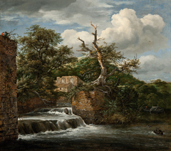 Landscape with a mill-run and ruins