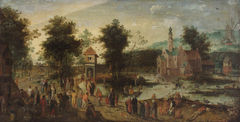 Landscape with castle and tavern