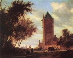 Landscape with the 'Plompetoren' in Utrecht