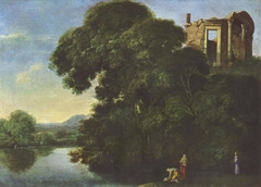 Landscape with the Temple of Vesta in Tivoli