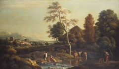 Landscape with Women Washing Clothes