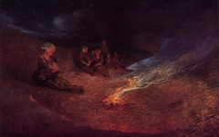 Le Pouldu, Woman Breastfeeding on a Dune