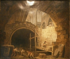 Looting of Royal Tombs in Saint-Denis Basilica, October 1793