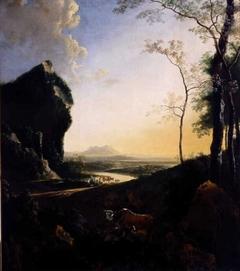 Mountainous evening landscape
