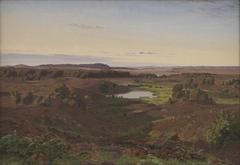 Nordsjællandsk landskab. Eftermiddagsbelysning