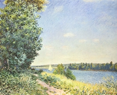 Normandy, The Water Path, Evening at Sahurs