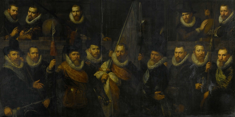 Officers and other Marksmen of the III District in Amsterdam Led by Captain Jacob Gerritsz Hoyngh and Lieutenant Nanningh Florisz Cloeck (The Company of Captain Jacob Gz. Hoing and of Lieutenant Nanning Florisz. Cloeck in 1616)