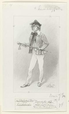 Ontwerp voor illustratie voor De Kolossus der Negentiende Eeuw door P.J. Andriessen (Textill., blz. 157); scène uit het leven van Napoleon