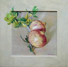 """Pomegranates"" ,40 Χ 40 cm, oil on wood."
