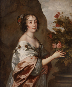 Portræt af en kvinde som Flora
