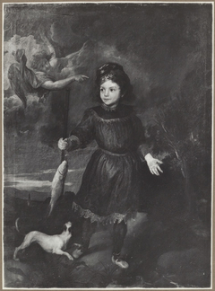 Portrait of a child, possibly Tobio Pallavicino as Tobias and the Angel