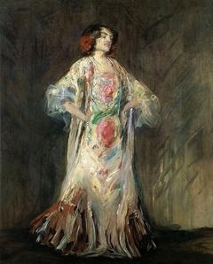 "Portrait of a dancer Antonia Mercé called ""La Argentina""."
